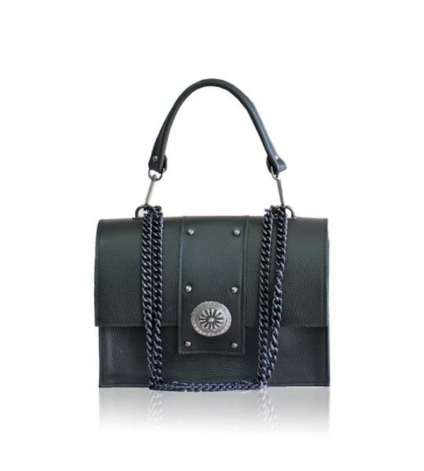 dion black leather
