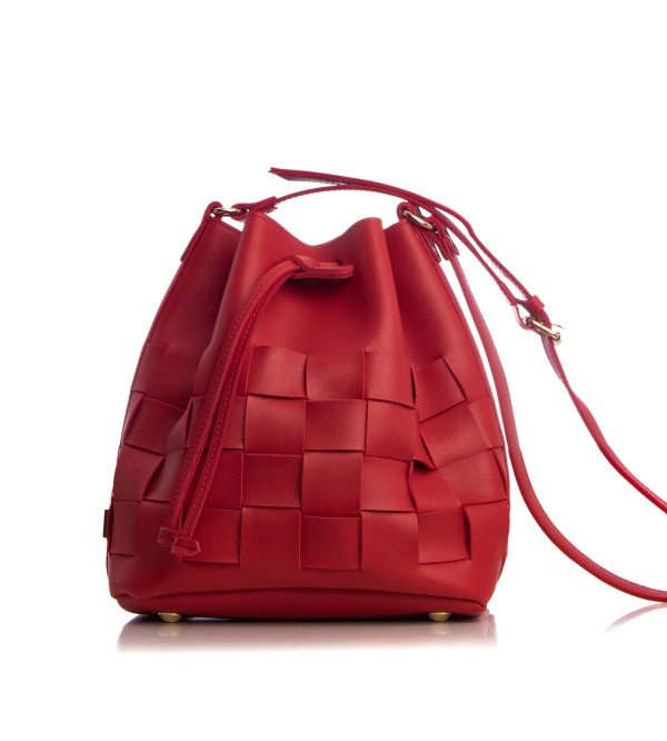 ea Straw Pouch Bag Red