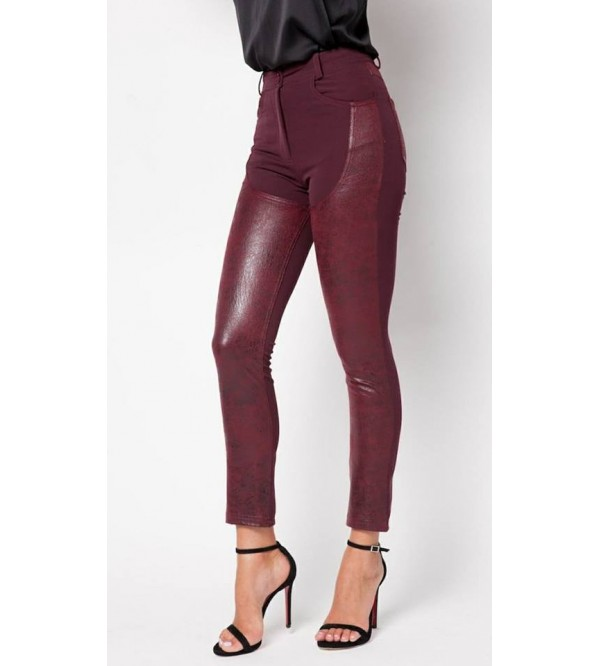 MM CROCUS TROUSERS BURGUNDY