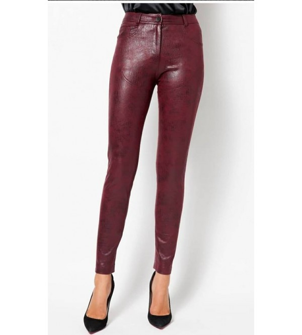 MM CLEODORA TROUSERS BURGUNDY